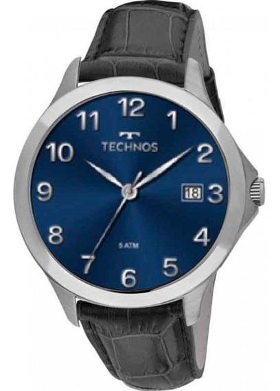 Relógio Technos Masculino Classic Steel De Couro 1s13cm/2a