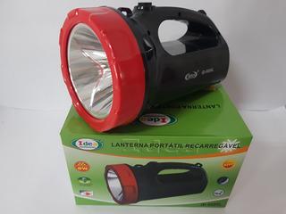Lanterna Holofote Led Recarregável Potência 3w Id-8018w