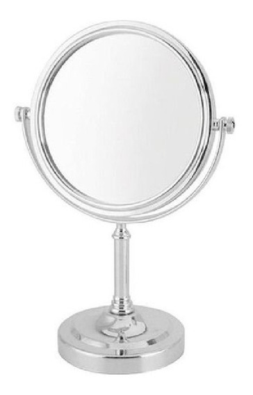 Espelho De Mesa Maquiagem Princesas Cromado 22cm