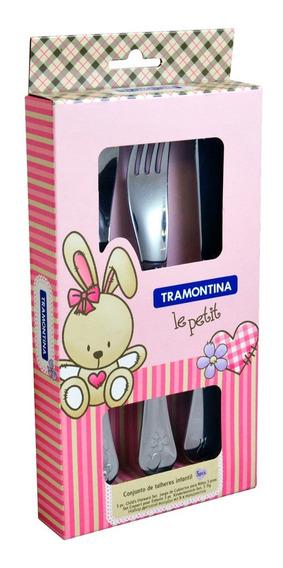 Cubiertos P/bebe Tramontina Rosa 3pzs 66973/005