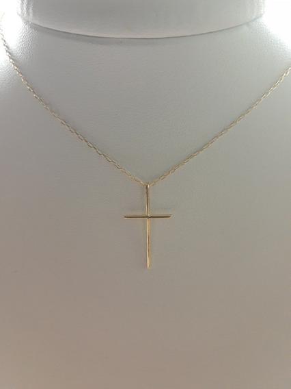 Corrente Cartier Masculina Com Cruz Em Ouro 18
