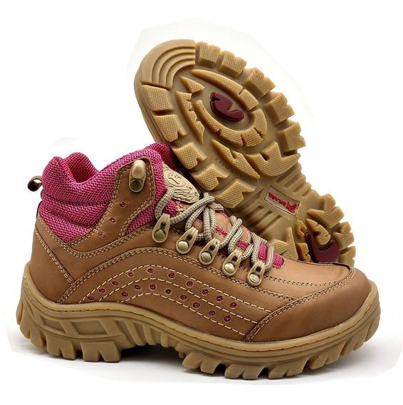 Botinha Avent Sapato Feminino Bmbrasil Couro 5400 Ortopédico