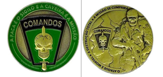 Comandos Eb Moeda Medalha Cac Militar Metal Coin