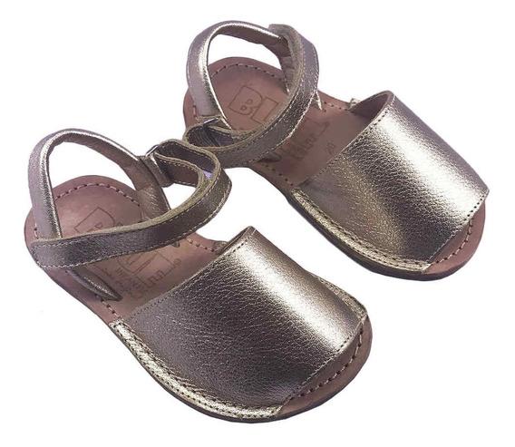 Sandália Infantil Fem Avarca Dourada Blue