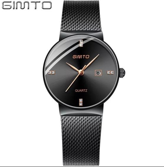 Relógio Feminino Luxo Gimto Promoção A Prova D