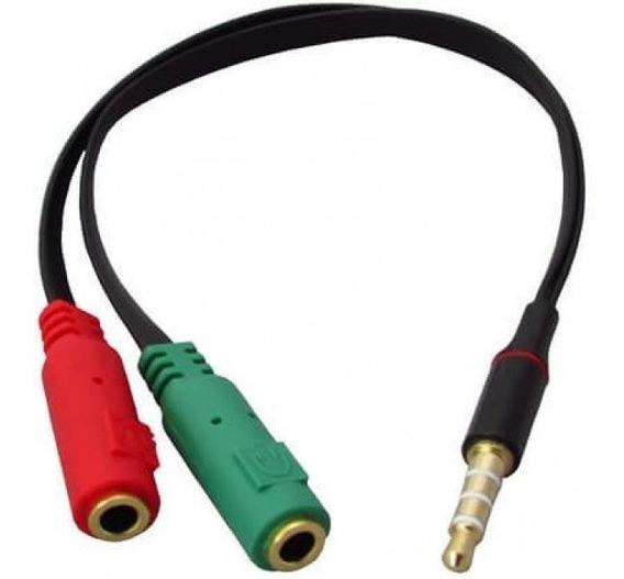 Adaptador P2 Para Fone E Microfone - 20cm
