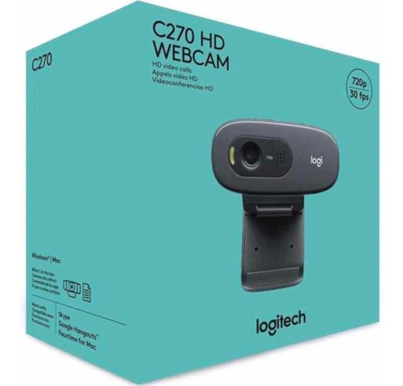 Webcam Logitech C270 Nova (pronta Entrega)