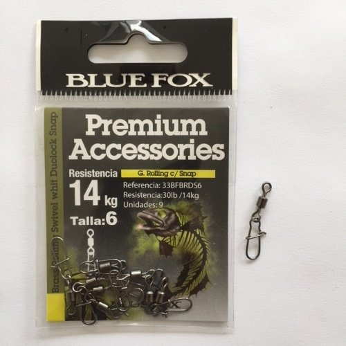 Destorcedor/snap Para Pesca Blue Fox Resistencia 14kg 9 Pzas