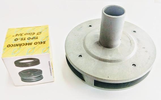 Rotor De Bomba D´agua Piscina Igui 1/2 Cv + Selo Mecânico