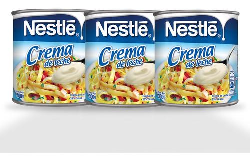 Crema De Leche Nestlé® - 3 Unidades De 300g