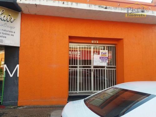 Salão Comercial Para Alugar Com 68 M² - Centro - Sumaré/sp - Sl0673