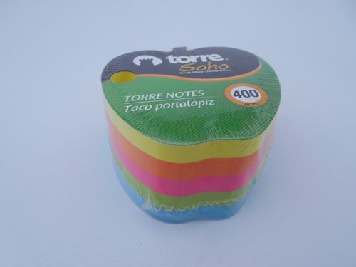 Notas Adhesivas Torre / Portalápiz 400 Hojas  (1/4 Doc.)