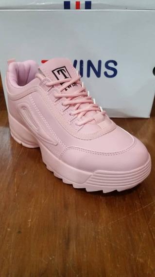Zapatos Deportivos Twins Tipo Fila Disruptor (2019) 36-41