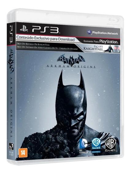 Jogo Ps3 Play 3 Batman Arkham Origins Mídia Física