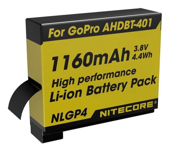 Bateria Gopro Go Pro Hero 4 Ref. Ahdbt-401 Nitecore Nlgp4