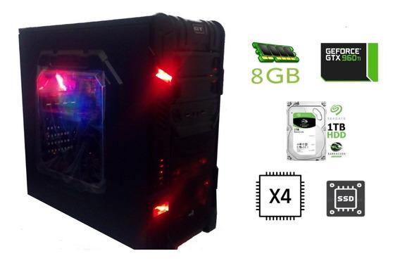 Cpu Gamer Quad Core 8 Gb Ram Ssd 240gb Hd 1tb Geforce960 2gb