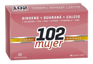 102 Plus Mujer Vitaminas Y Minerales 30 Caps Suplemento