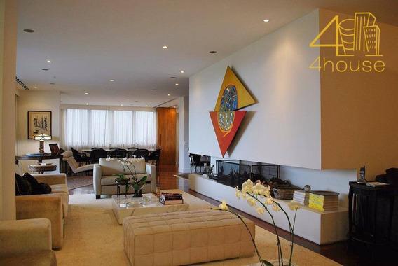 Real Parque / Morumbi - Apartamento Lindo 515m² 02 Suítes 04 Vagas Para Venda - Ap1418
