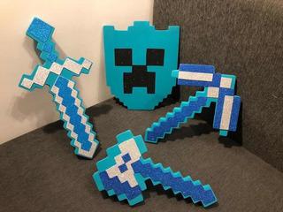 Espada Minecraft + Escudo + Pico + Pistola - 6 Cuotas S/int!