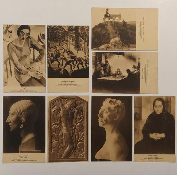 8 Tarjeta Postal Amigos Del Arte Forner Gramajo Gutierrez