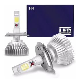 Par Lampadas Super Led H4 6000k Super Branca Efeito Xenon