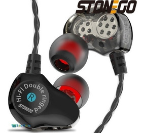 Fone In-ear Retorno D6 Stonego Dual Driver + Case High Defin