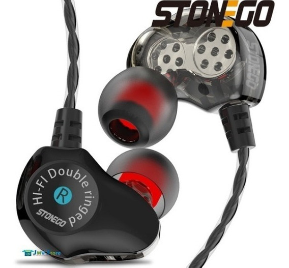Fone In-ear Retorno D6 Stonego Dual Driver + Case High Defin