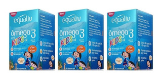 Kit 3 Potes Ômega 3 Kids 60 Capsulas Equaliv