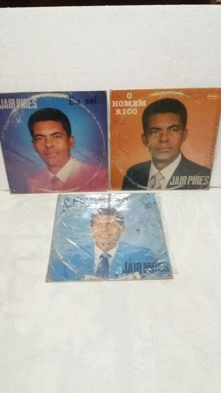 Jair Pires - Coleção De 3 Discos De Vinil