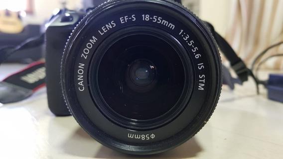 Camera Canon T51 Com Lente 18-55 2 Baterias E Bag