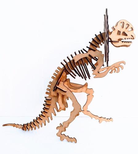 Imagen 1 de 9 de Dinosaurio Ceratopcia Encastre 3d - Mdf / Fibrofacil