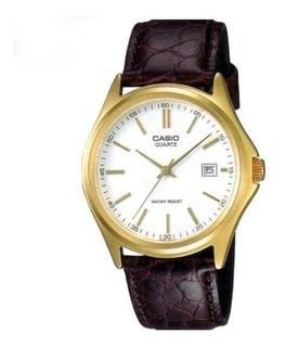 Reloj Casio Mtp-1183q Hombre Correa Malla Cuero Wr