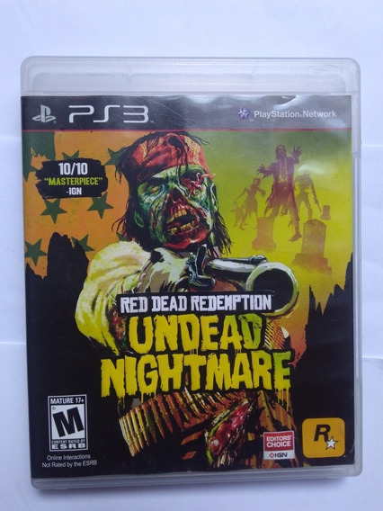 Jogo Red Dead Redemption Undead Nightmare Ps3 Fisica R$65