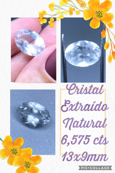 Quartzo 6 575 Cts Oval Natural 13x9 Mm Cristal