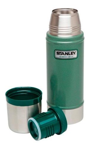 Termo Stanley Green Classic 700ml 3/4 Gtia De Por Vida Pa-pa