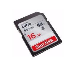 Cartão Sandisk Sdhc Ultra 80mb/s Classe 10 16gb Sd Original