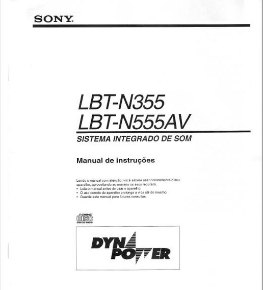 Manual Do Proprietário Sony Lbt-n555av/lbt-n355
