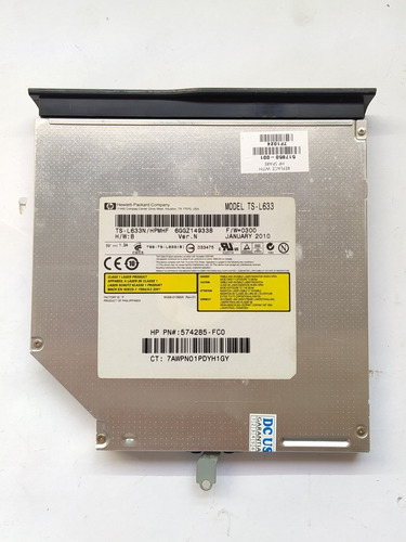 Drive Leitor Gravador Dvd Cd Ts-l633 Notebook Hp G61-410sa
