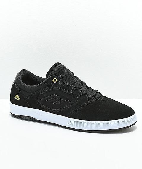 Tenis De Skate Emerica Dissent Ct Black, Gold & White Skate