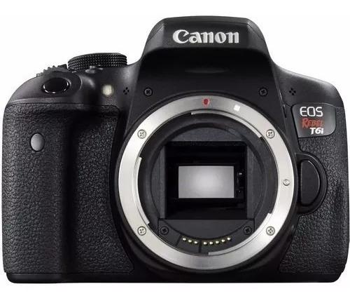 Corpo Canon T6i Com Lente 24mm Canon + 2 Flash + 2 Bateria