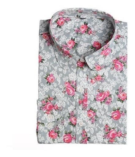 Camisa Dama Algodon Y Poliester Talle Xxl - Manga Larga