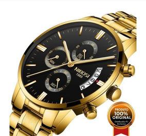 Relógio Masculino Nibosi Original Quartzo Fashion Function