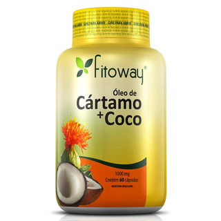 Óleo De Cártamo C/ Coco - Fitoway - 60 Cápsulas - Dietas