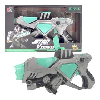 Pistola Blaster Juego Luz Y Sonido Star Vteam Robocop Bl3268