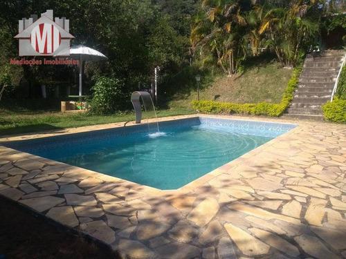 Chácara Rica Em Água Com Lago, 04 Dormitórios À Venda, 10000 M² Por R$ 640.000  - Pedra Bela/sp - Ch0250