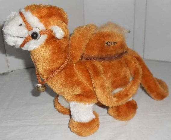 Camelo Egypt 27x25cm Pelúcia Bolsinha Zíper Nas Corcovas