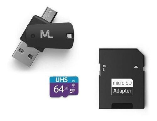 Cartão Ultra High Speed-i 64gb Até 80 Mb/s Multilaser