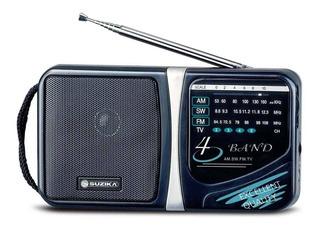 Radio Portatil Am Fm Suzika Sz-rd061 4 Bandas 2 Pilas D