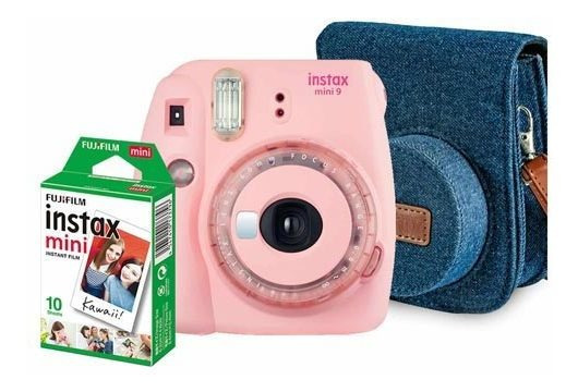 Kit Câmera Fujifilm Instax Mini 9 Rosa Chicle - 705065385