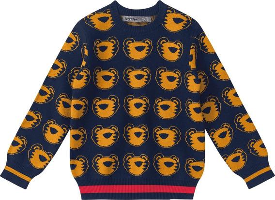 Suéter Tigor T. Tigre Azul Bebê Menino 33245